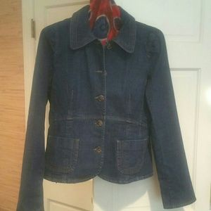 LOFT Jeans Jacket, Darker Wash, Sz 8